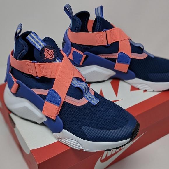 New Nike Huarache City Blue Void Pink